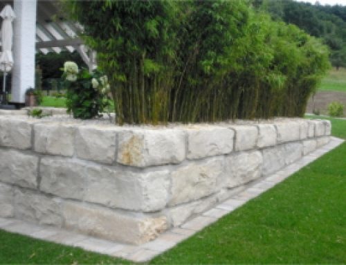 Terrassen, Wege, Plätze, Mauern